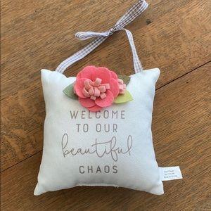 Hobby Lobby Accents - welcome pillow door hanger